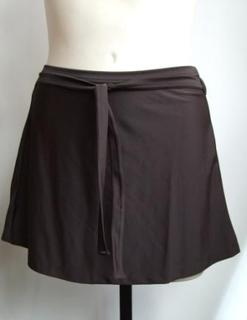 Swimwear skirt in Dark Chocolate