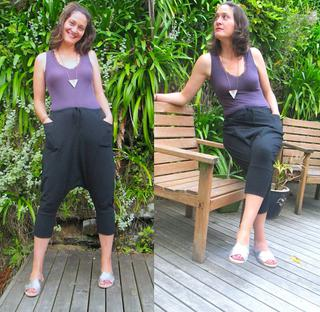 Mosey knit pants in black