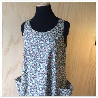 Belle frock - soft grey floral