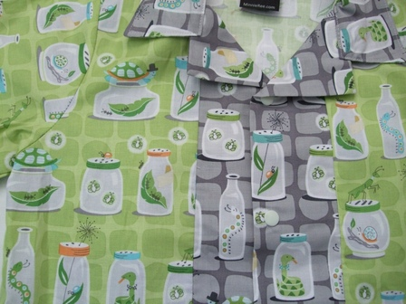 Boys shirt - green  bugs size 7-8 years