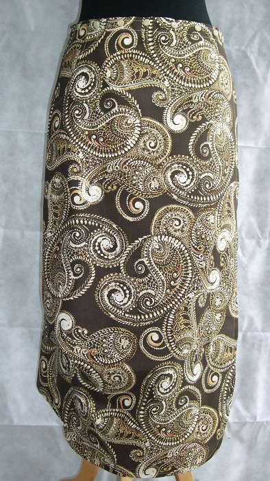 Katydid Snap Wrap Skirt - Brown Paisley