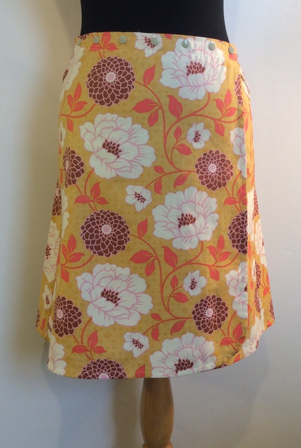 Snap Wrap Skirt in Honey
