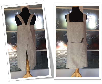 Linen crossover apron