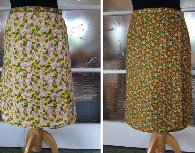 Reversible skirt in new vintage