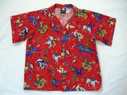 Boys shirt - red cowboys size 18m - 2 years