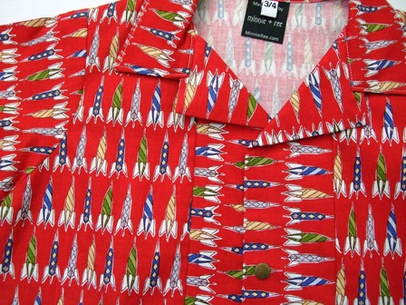 Boys shirt - red rockets size 5-6 years