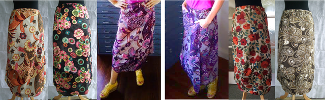 Katydid snap wrap skirt