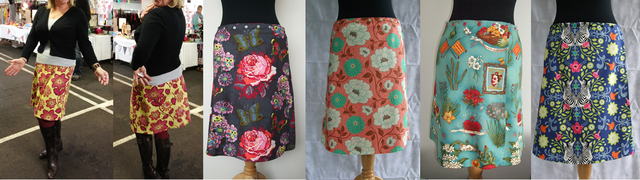 Snap wrap skirts